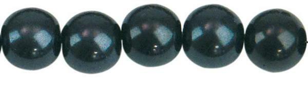 Glaswachsperle Ø 10 mm, 30 Stk. - schwarz