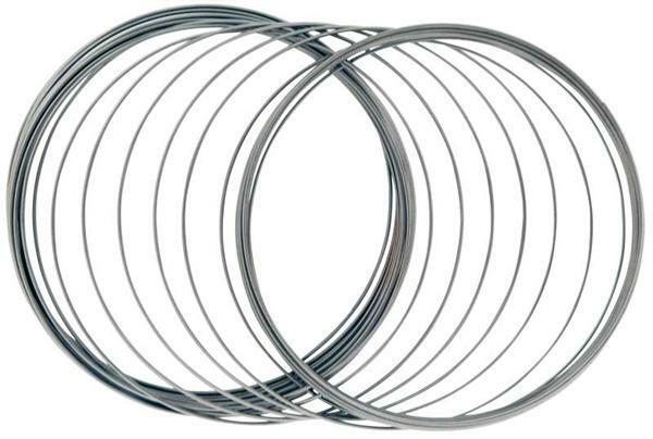 Geheugendraad armband zilverkleurig, Ø 50 mm