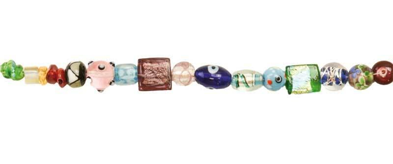 "Assort. Perles ""à la lampe"" - multicolore, 95 g"