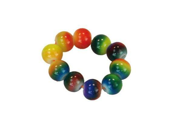 Glasperlenmischung - 100 g, Ø 8 mm, Regenbogen