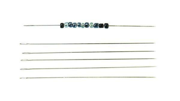 Aiguilles pour tisser les perles, 6 pces/50 mm