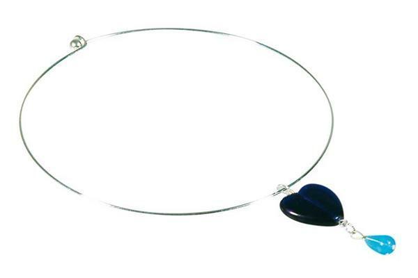Edelstalen collier zilverkleurig, Ø 140 mm