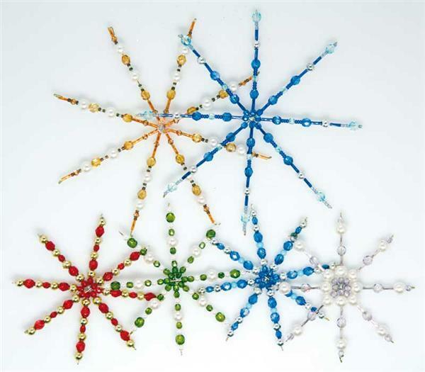 Drahtsterne für Perlen - 4 Stk., Ø 15 cm
