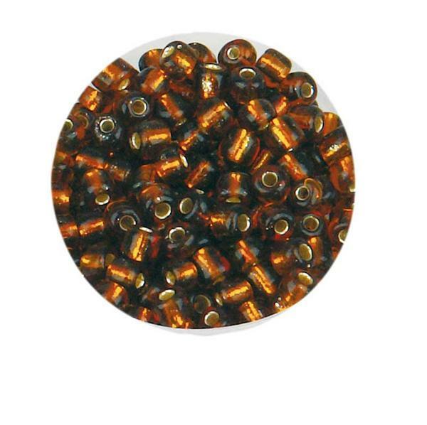 Rocailles - Ø 4 mm, brun fonçé