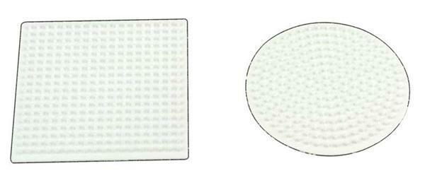 Legeplatte - Kreis und Quadrat, 9 cm