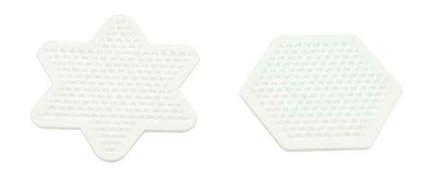 Legeplatte - Hexagon und Stern, 9 cm