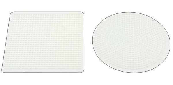 Strijkkralenbordje - rond en vierkant, 15 cm
