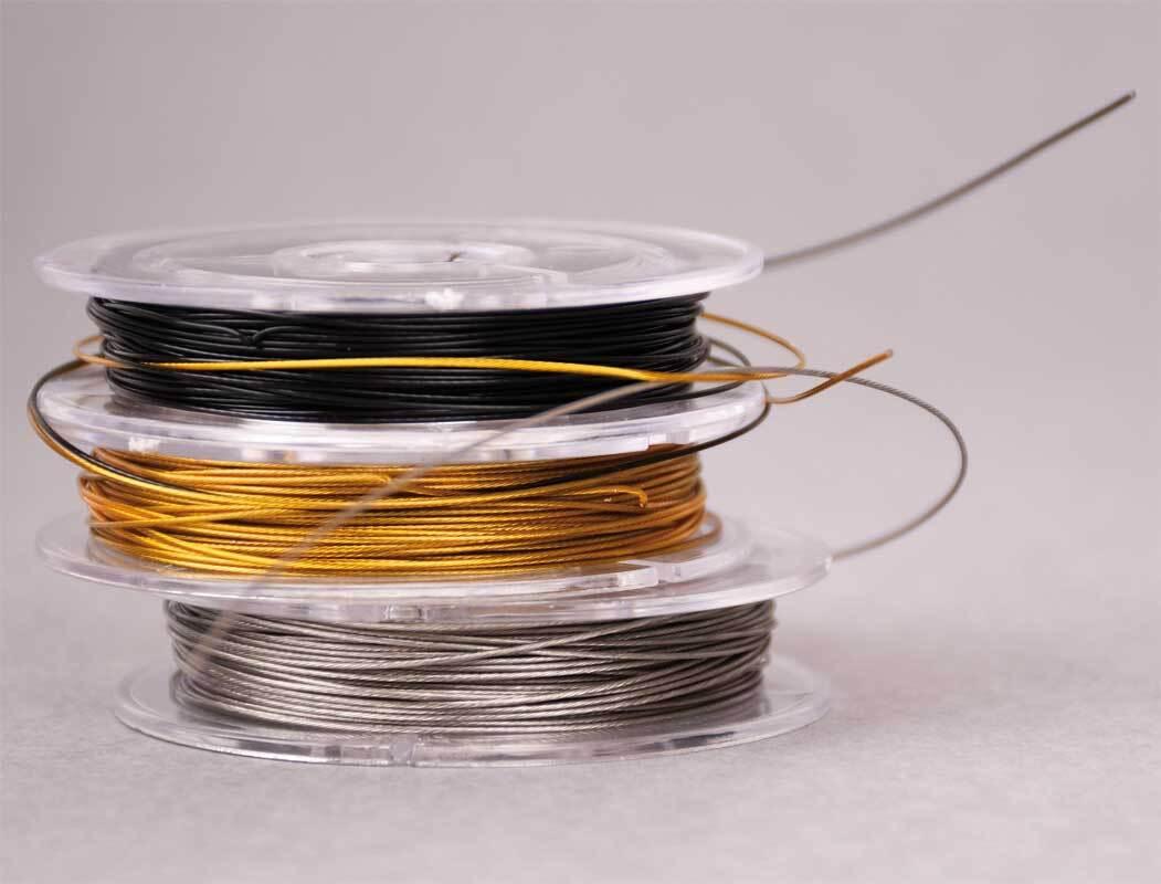 Fil métal acier inoxydable enrobé de nylon - noir