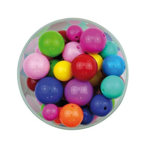 Perles plastiques pour enfants, 100 g