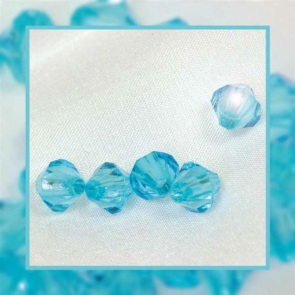 Acrylperlen Ø 4 mm, aqua