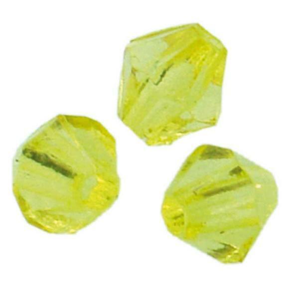 Acrylperlen Ø 4 mm, gelb