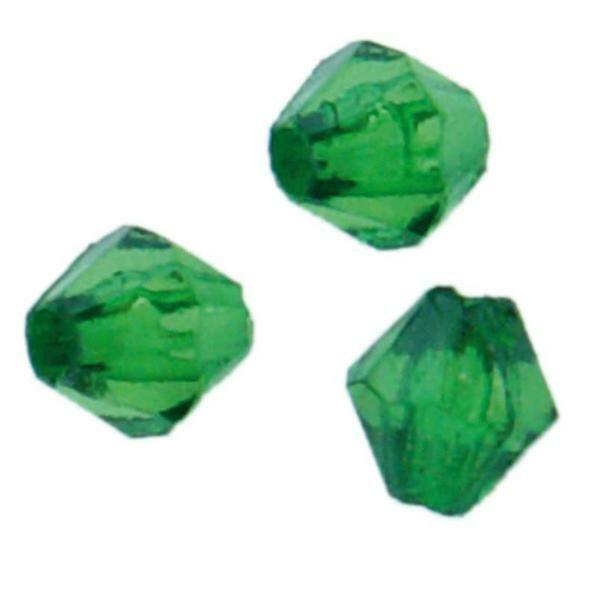 Perles acryliques - Ø 4 mm,  vert