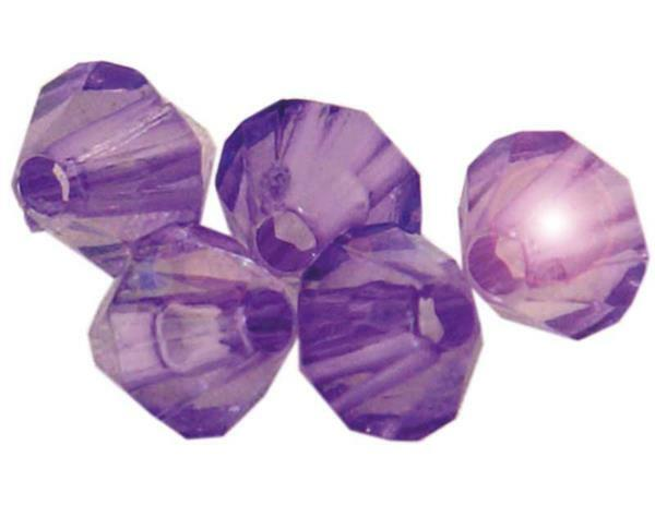 Perles acryliques - Ø 4 mm, lilas