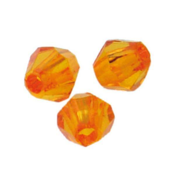 Acrylkralen - Ø 4 mm, oranje