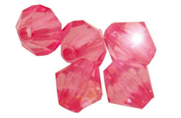 Perles acryliques - Ø 4 mm, rose