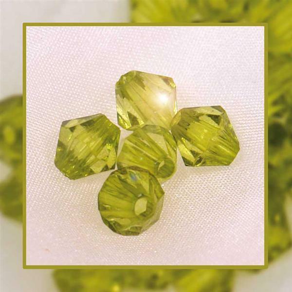 Perles acryliques - Ø 4 mm, vert clair