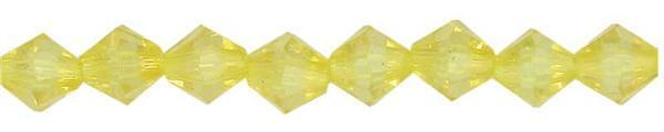 Perles acryliques - Ø 4 mm, jaune