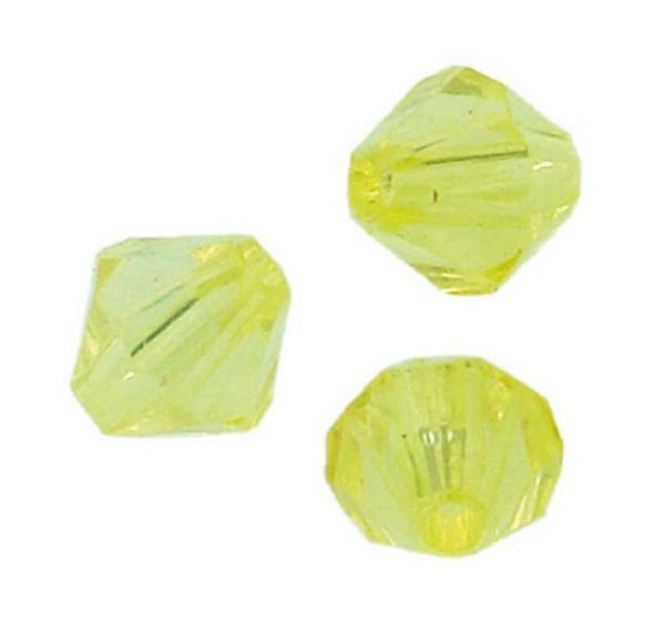 Perles acryliques - Ø 6 mm, jaune