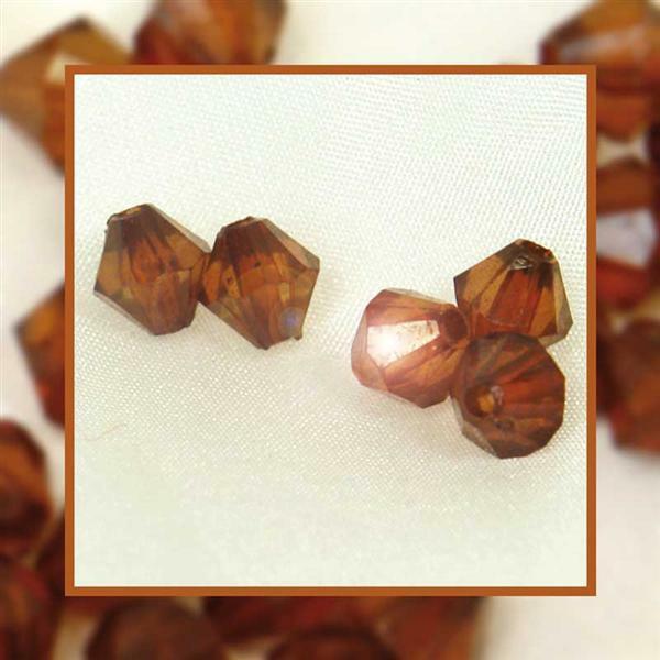 Perles acryliques - Ø 6 mm, brun