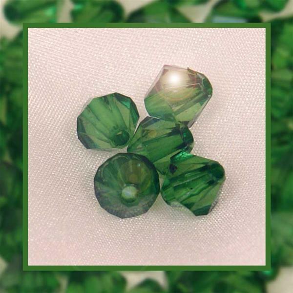 Acrylkralen - Ø 4 mm, groen