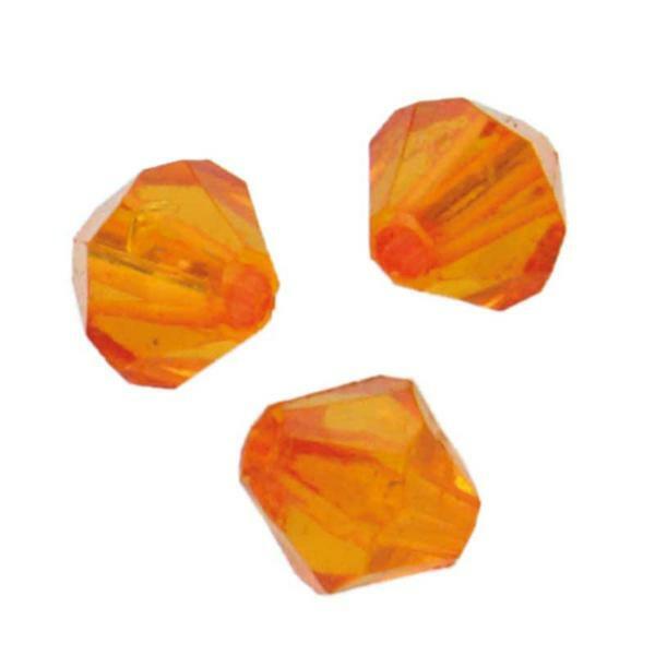 Acrylperlen Ø 6 mm, orange