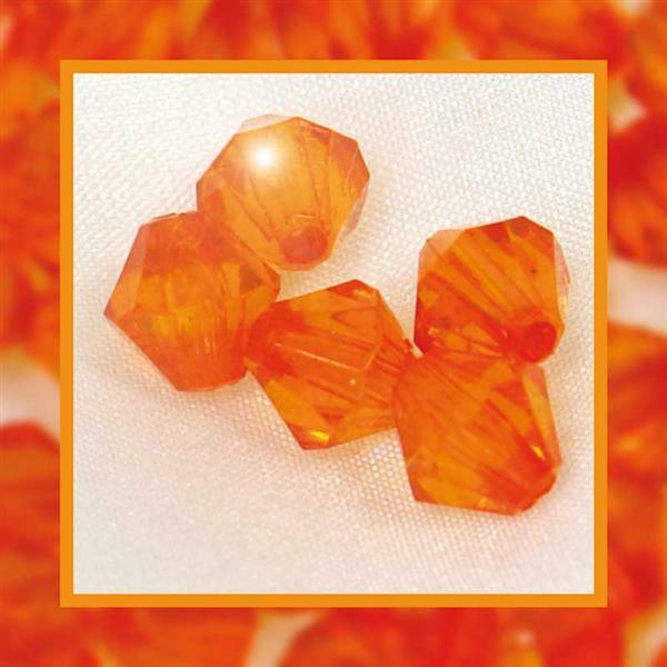 Perles acryliques - Ø 6 mm, orange