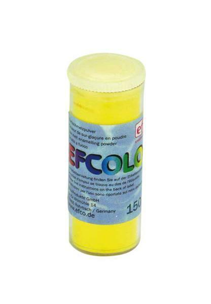 Gekleurd glazuurpoeder - 10 ml, geel