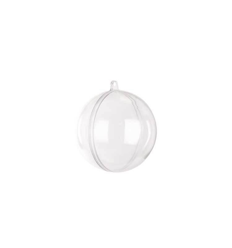 Boule transparente 2 parties - Ø 60 mm