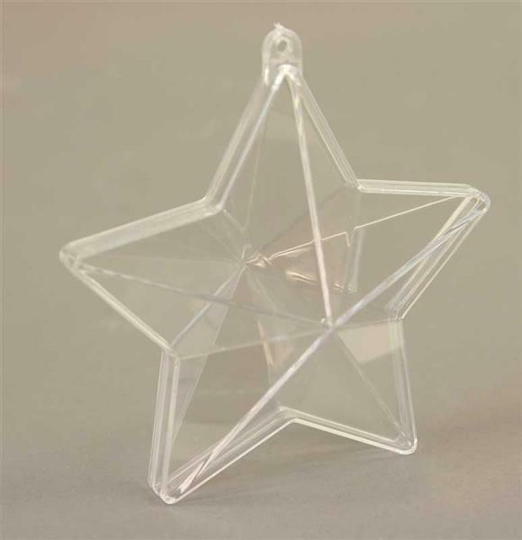 Etoile transparente - 2 parties, 100 mm