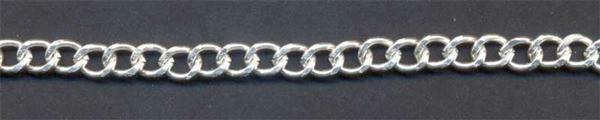 Halsketting zilverkleurig - 450 mm, grote schakel