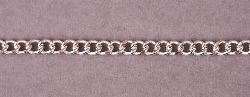 Armband silberfarbig, 200 mm