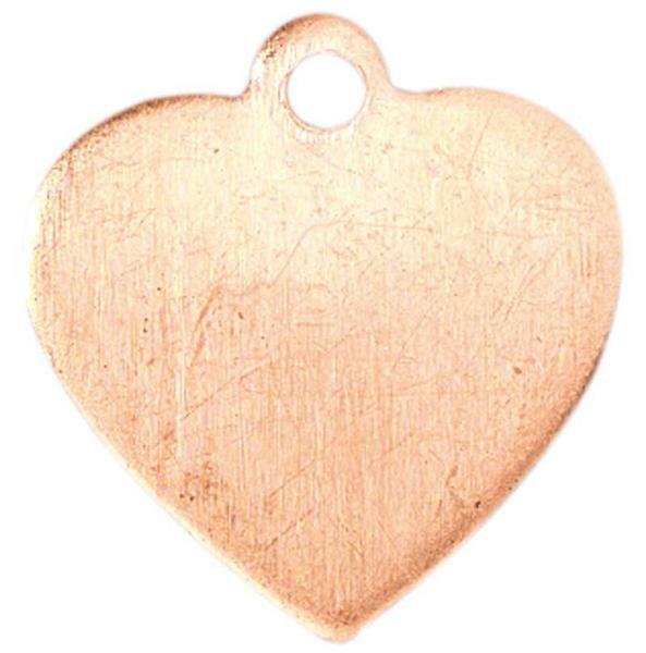 Kupferanhänger, Herz mit Aufhänger