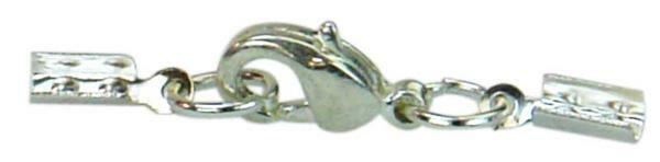 Schmuckverschluss - silberfarbig, 1 mm