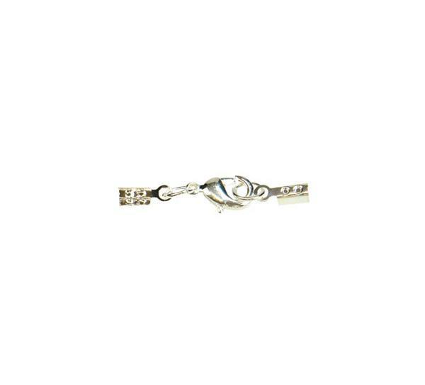 Karabijn sieraadsluiting - zilverkleurig, 1 mm