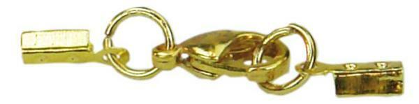 Karabijn sieraadsluiting - goudkleurig, 1 mm
