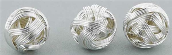 Perles métal moderne - 10 pces, coloris argent