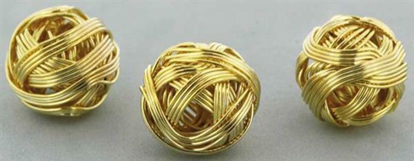 Metallperlen modern - 10 Stk., goldfarbig