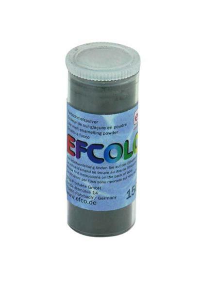 Poudre d'émail - 10 ml, gris foncé