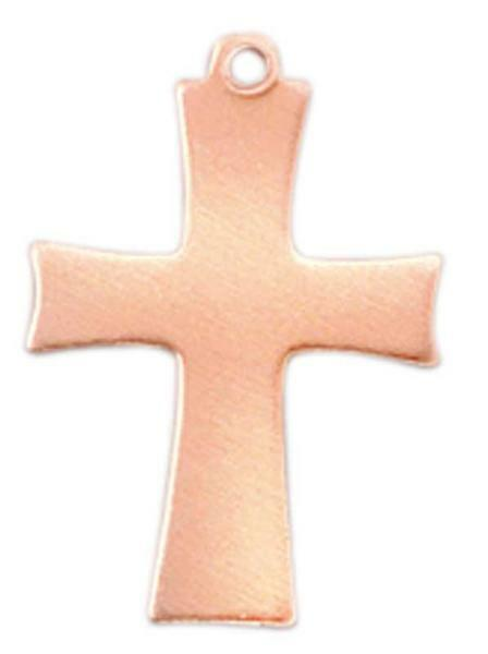 Kupferanhänger, Kreuz mit Aufhänger