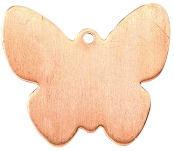Kupferanhänger, Schmetterling mit Aufhänger