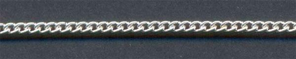 Halsketting zilverkleurig - 400 mm, kleine schakel