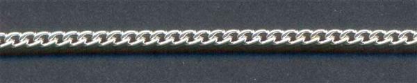 Armband zilverkleurig - 180 mm, kleine schakels