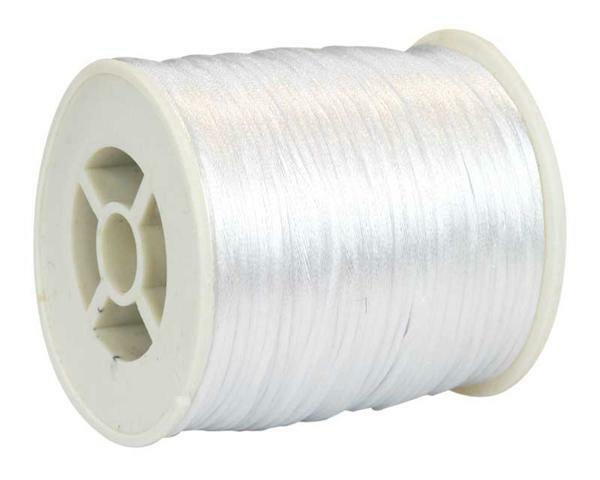 Satinkordel Ø 1 mm, weiß