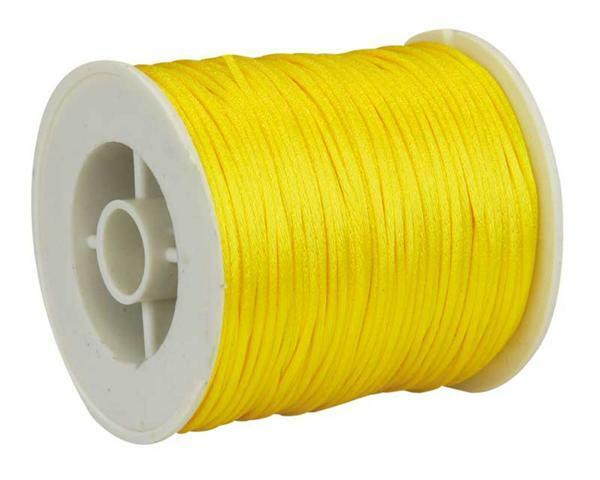 Satijnkoord Ø 1 mm, geel