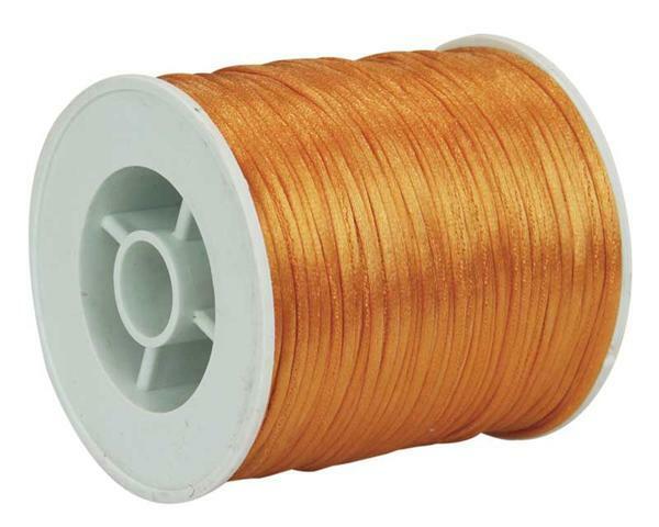 Satinkordel Ø 1 mm, orange