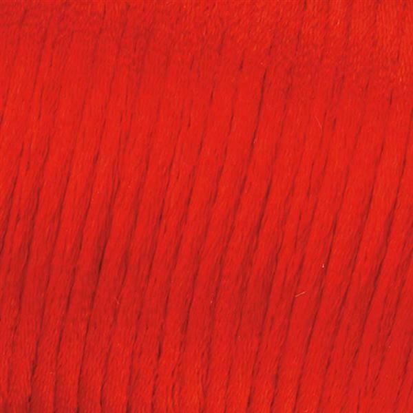 Corde de satin - Ø 1 mm, rouge