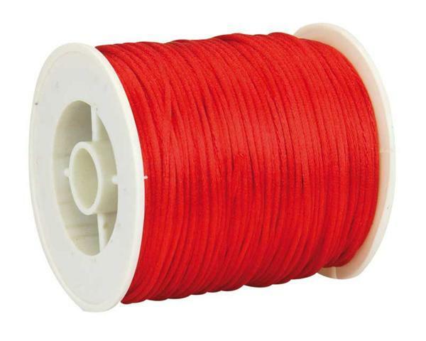 Satijnkoord Ø 1 mm, rood