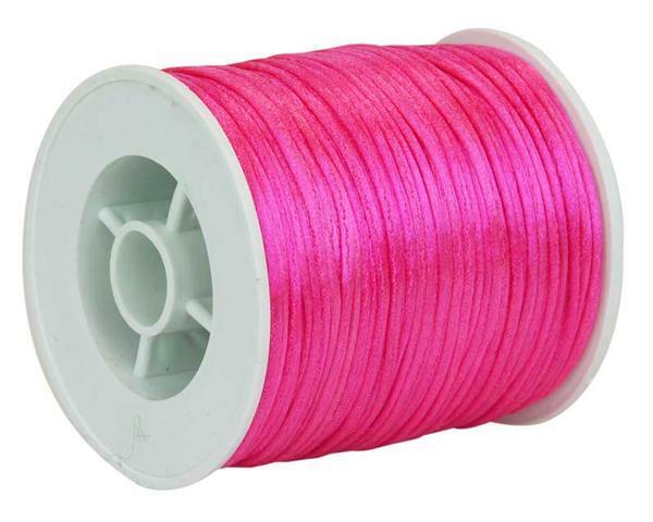 Corde de satin - Ø 1 mm, pink