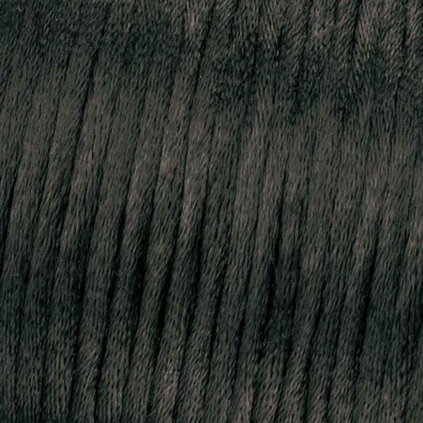 Satijnkoord Ø 1 mm, zwart