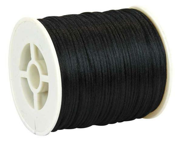 Satinkordel Ø 1 mm, schwarz